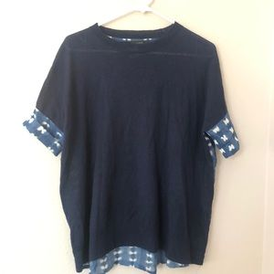 J crew navy blue top sz Xs Short sleeve